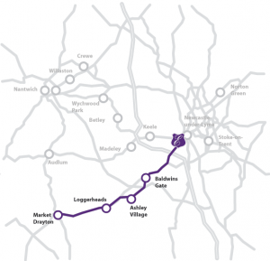 Bus Route Market Drayton
